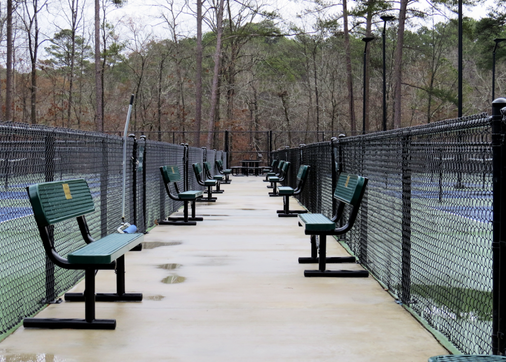 Hot Springs Village Pickleball Court Benches