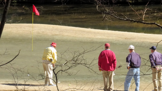 Men golfing on Hot Springs Village DeSoto Golf Course Winter 2019
