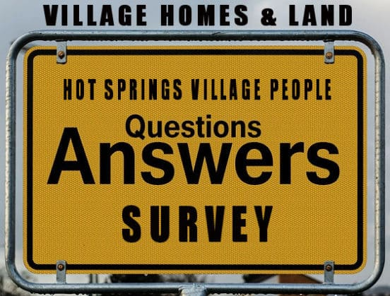 Hot Springs Village People Survey sign