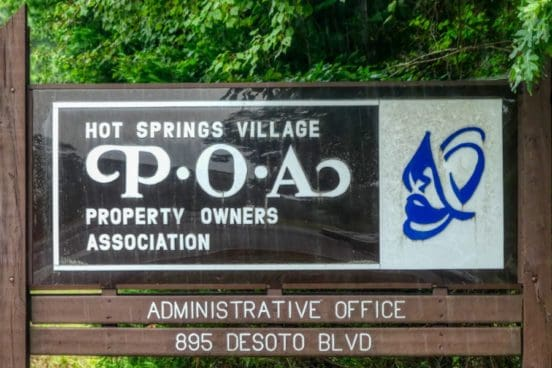 hot springs village poa administration sign