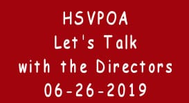 HSVPOA Let's Talk to the Directors 6-26-19