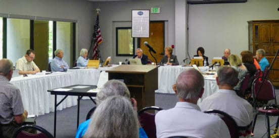 hot springs village board meeting 7-17-19