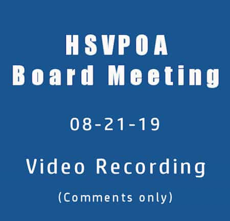hot springs village property owners' association video of audience comments on august 21, 2019