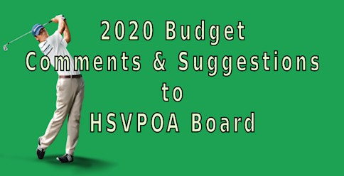 comments suggestions hsvpoa board 2020 budget