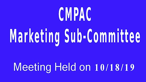 marketing sub committee cmpac 10-18-19