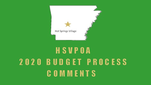 budget process comments hsvpoa lloyd sherman