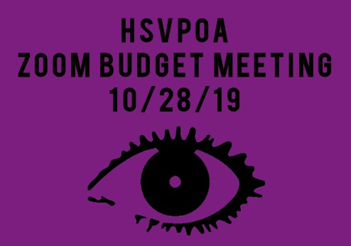 zoom budget meeting 10-28-19 hsvpoa