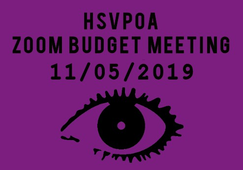 zoom budget meeting hsvpoa 11-05-2019