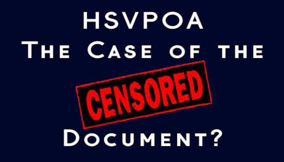 hsvpoa the case of the censored document