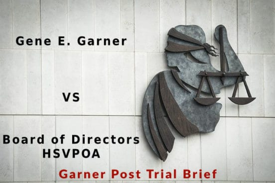garner post trial brief garner v hsvpoa board