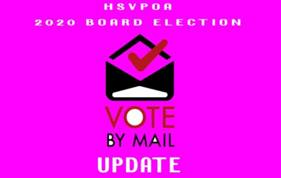 hsvpoa 2020 election process update