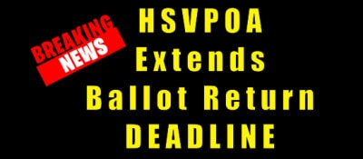 ballot return deadline extended hsvpoa