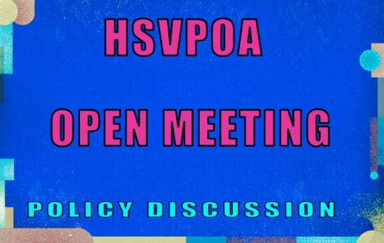 open meeting policy discussion hsvpoa