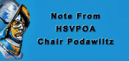 HSVPOA Chair Podawiltz wries a note to property owners