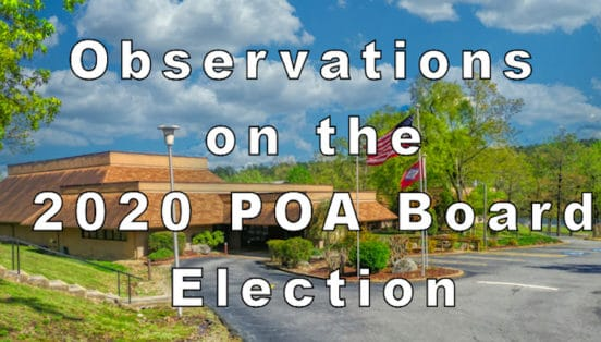 Observations on the 2020 HSVPOA Board Election