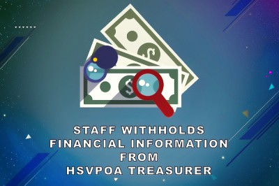 HSVPOA Treasurer's report May 2020