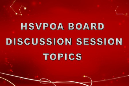 HSVPOA BOD Discussion Session to be held on 5-13-20