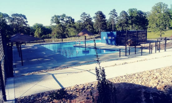 Outdoor pool completed HSVPOA