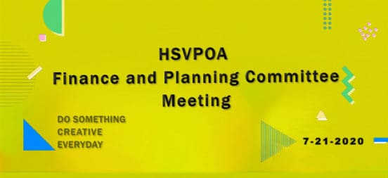 HSVPOA F and P Committee Meeting 7-21-2020