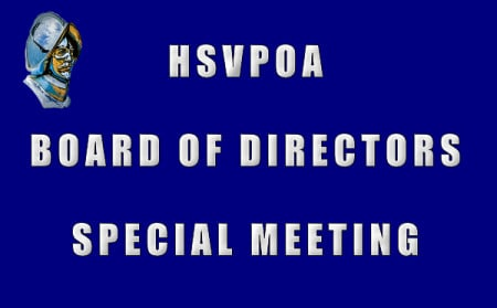 Aylward Resigns; HSVPOA Board Appoints Foltz to Treasurer