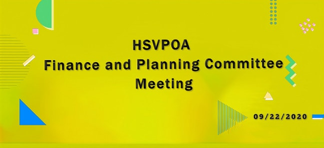 Hot Springs Village POA Finance and Planning Committee Meeting 09-22-2020