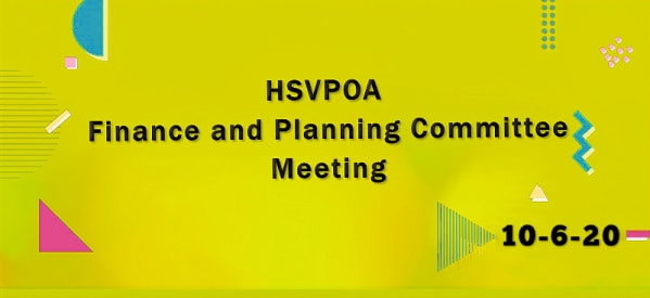 Hot Springs Village POA Finance and Planning Committee Meeting 10-6-2020