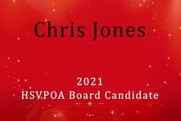 Christ Jones HSVPOA Board Candidate