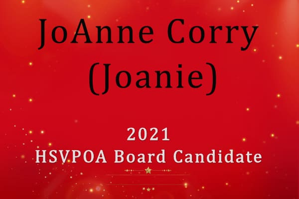 JoAnne (Joanie) Corry HSVPOA BOD 2021 Election