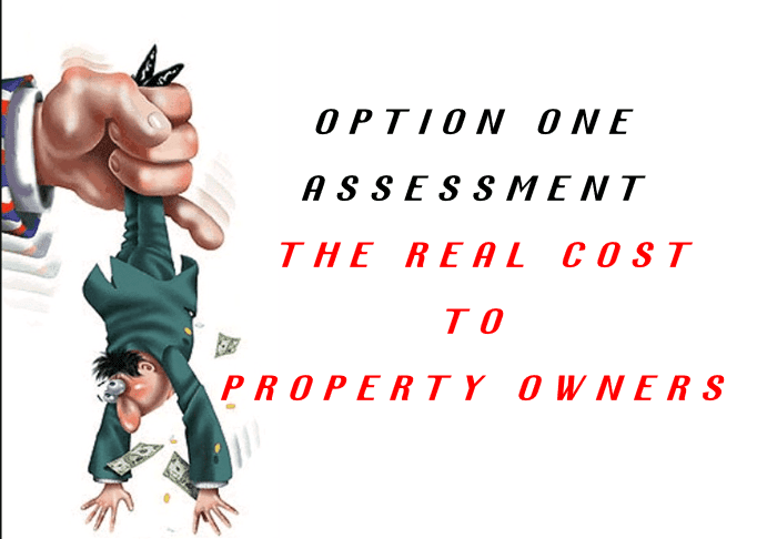 OPTION ONE -THE REAL COST TO HSV PROPERTY OWNERS